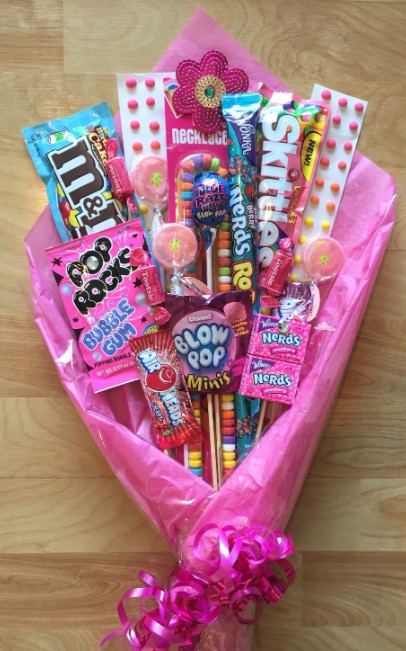 Candy Bouquet with Pink Theme