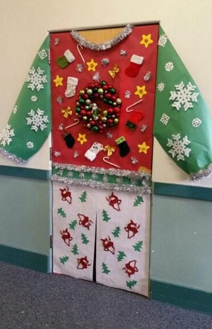 Christmas sweater door decoration