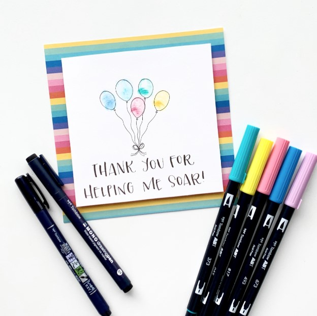 Colorful Sharpie Card
