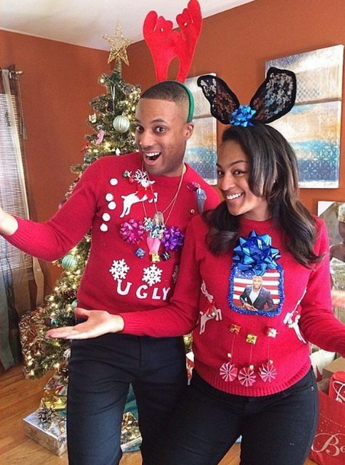 Couple ugly sweater