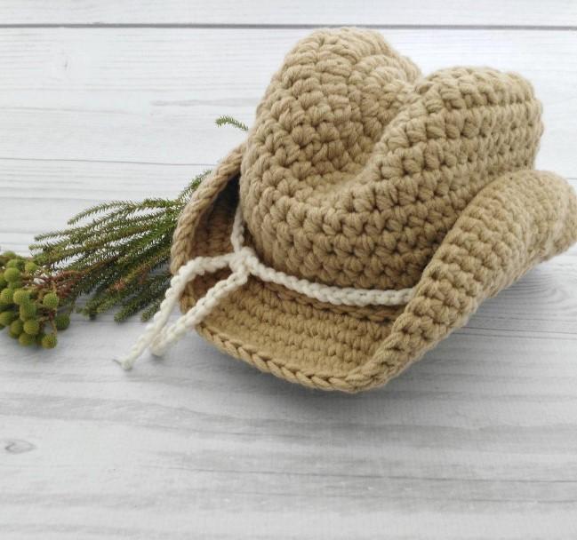 Cowboy Crochet Hat