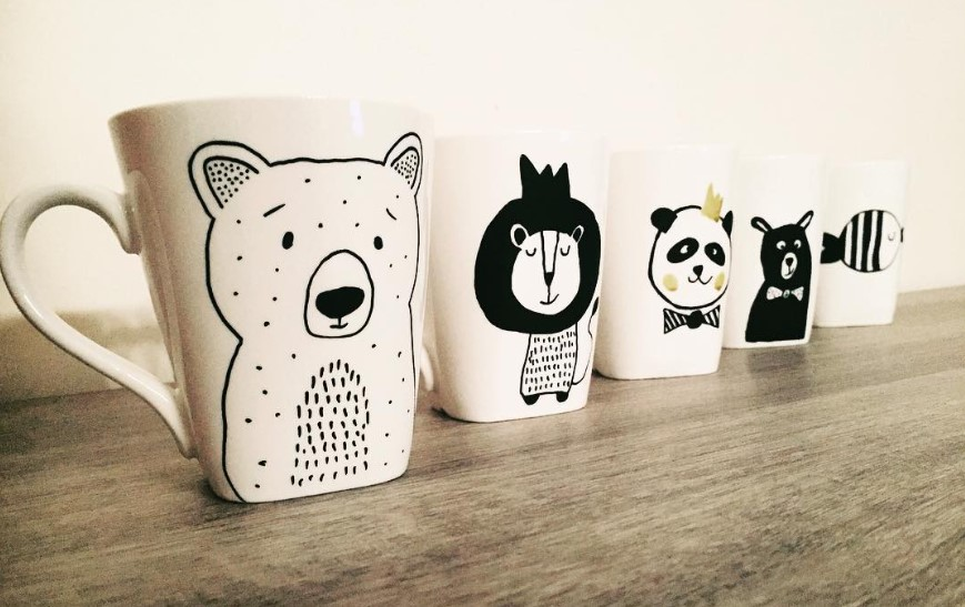 DIY Cute Decorated Mugs