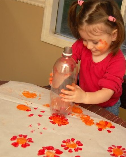 Flowery bottle print