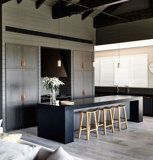 Dark Blue Kitchen Atmosphere