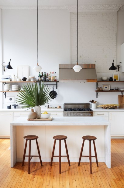 Exposed Brick White Kitchen Ideas