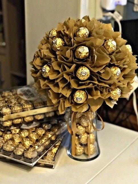 Fancy Gold Bouquet Tutorial