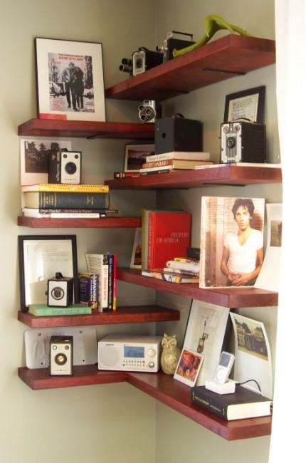 Floating Shelves at the Corner