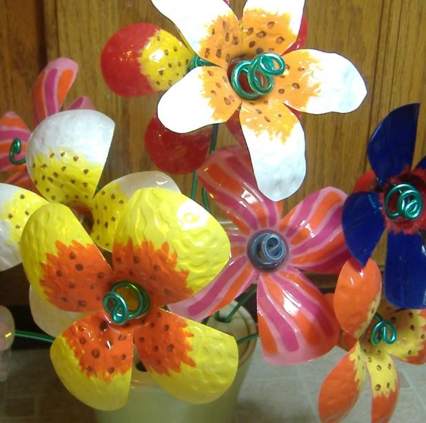 Flower BouquetPlastic Bottle Crafts