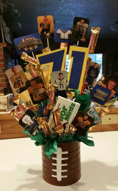 Football Candy Bouquet