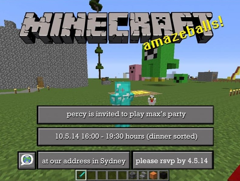 Game Interface Invitation