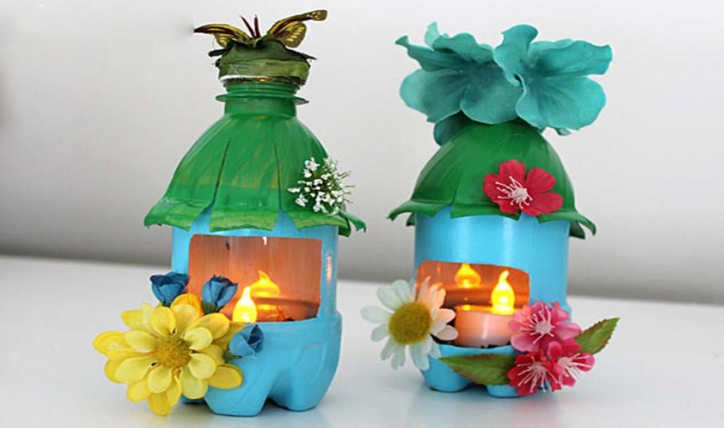 Garden Lights Plastic Bottle Crafts