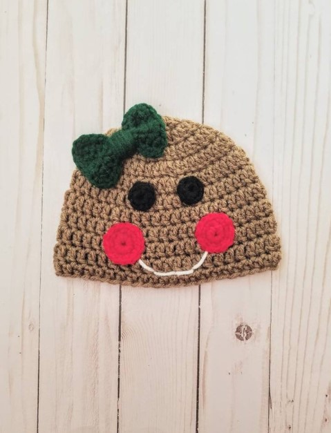 Gingerbread Baby Hat