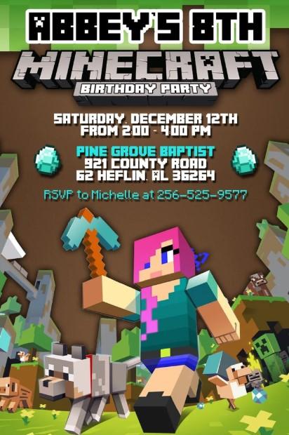 Girls Minecraft Invite