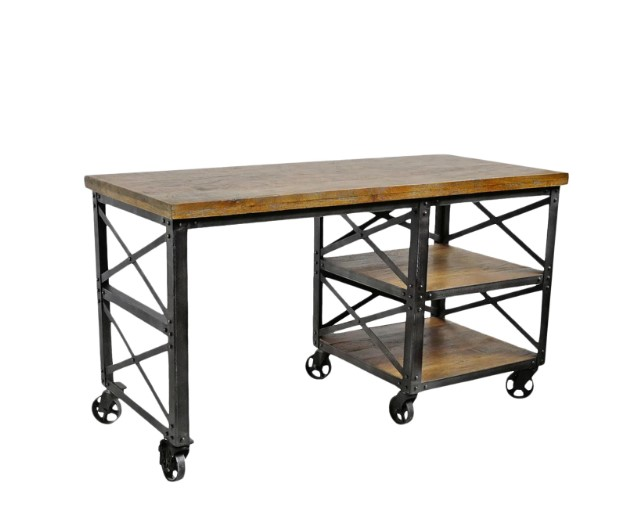 Industrial Style Desk with Plenty Storage