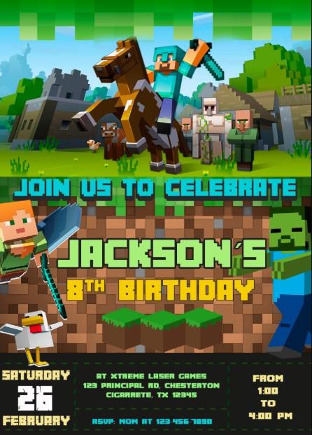 Minecraft Knight Invitation