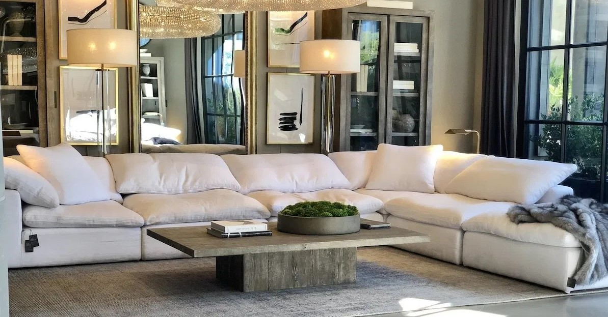 Modern Living Room with Large Couch