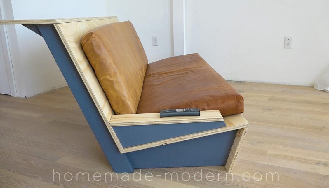 Modern Sofa and Desk Combo