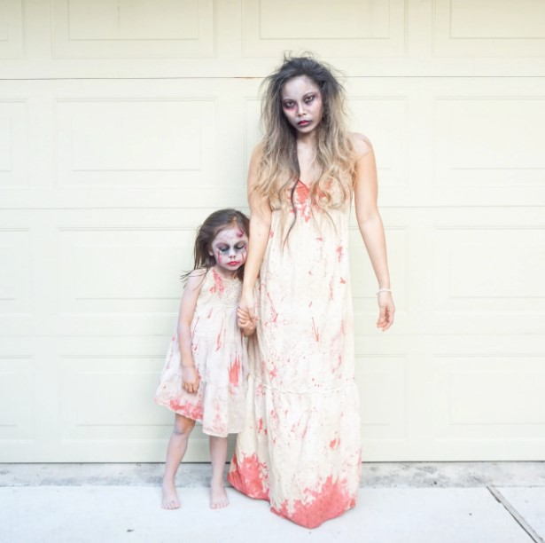 Mother and Daughter Zombie