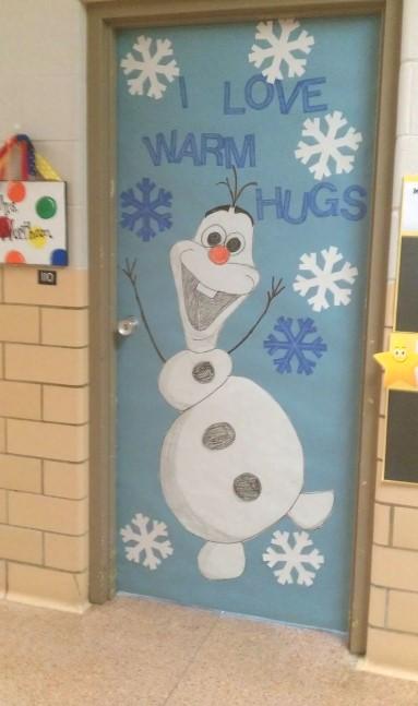 Olaf on the door