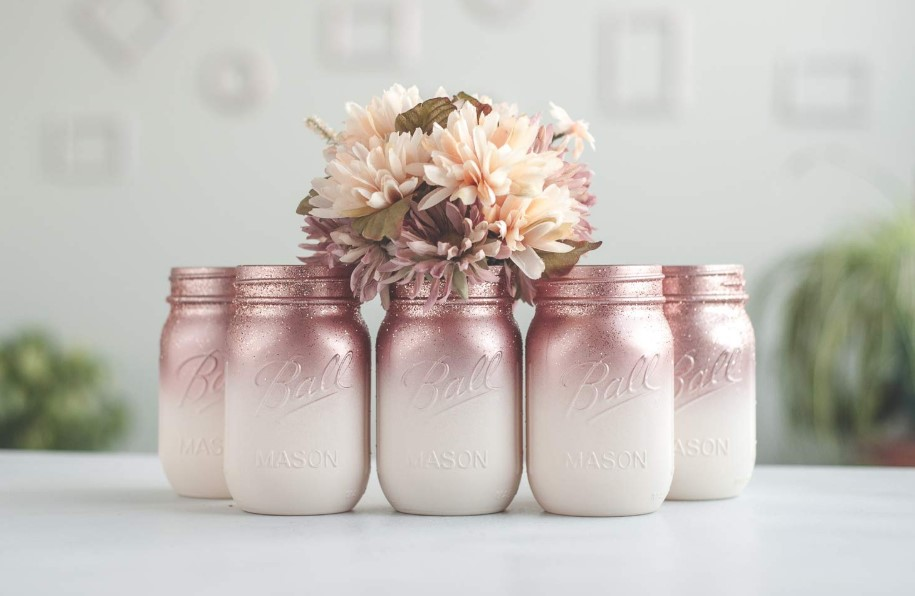 Ombre Rose Gold Jars