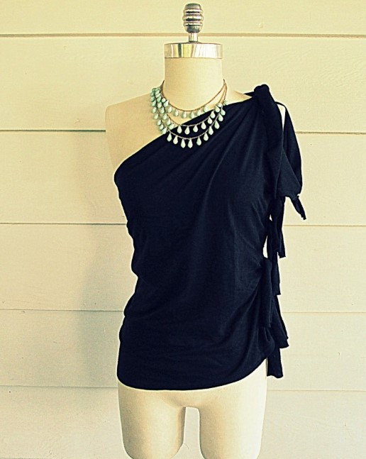 One-Shoulder Fancy Top