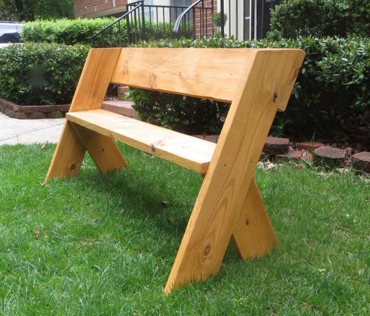 Organic Outdoor Bench