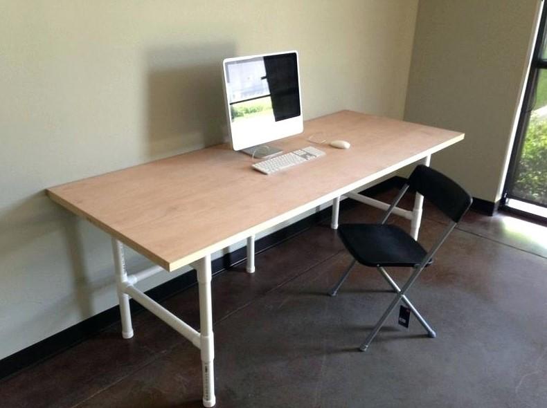 PVC Pipe Computer Desk