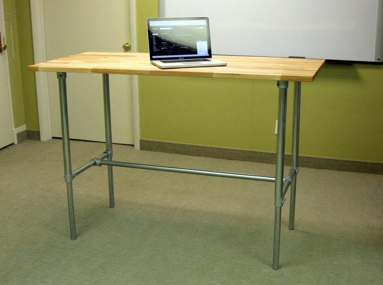 PVC Pipe Standing Desk