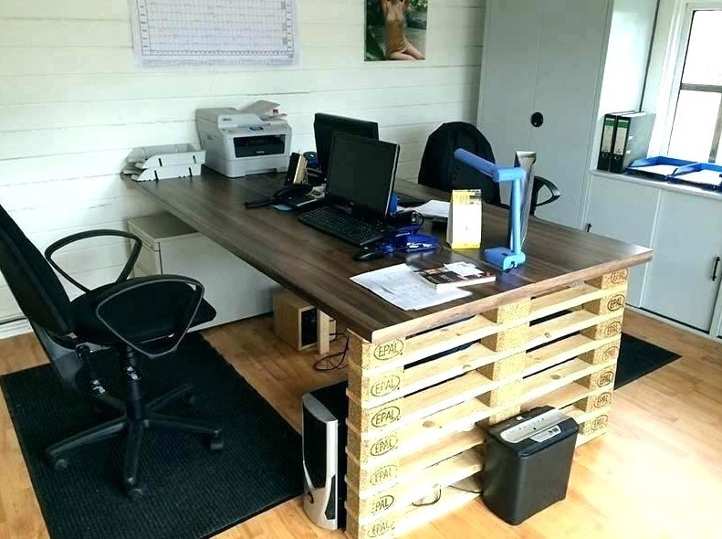 Recycled Timber Computer Desk