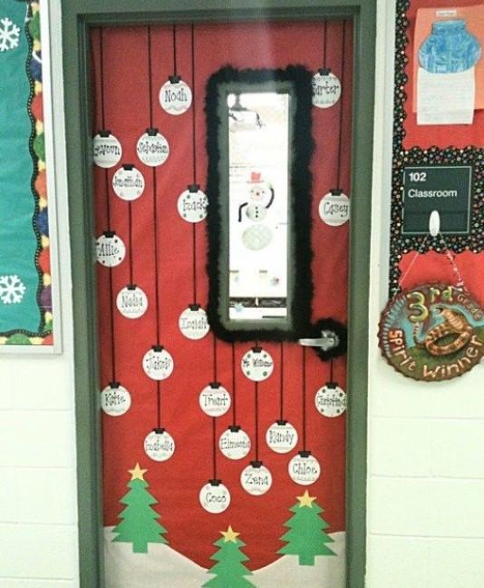 Red door of Christmas