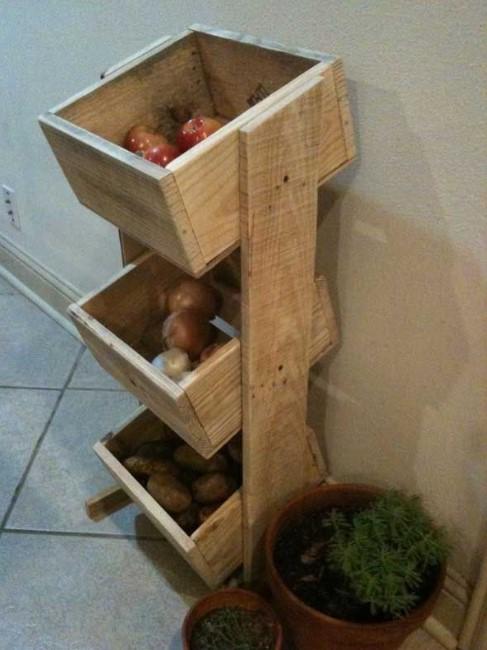Shelves of box