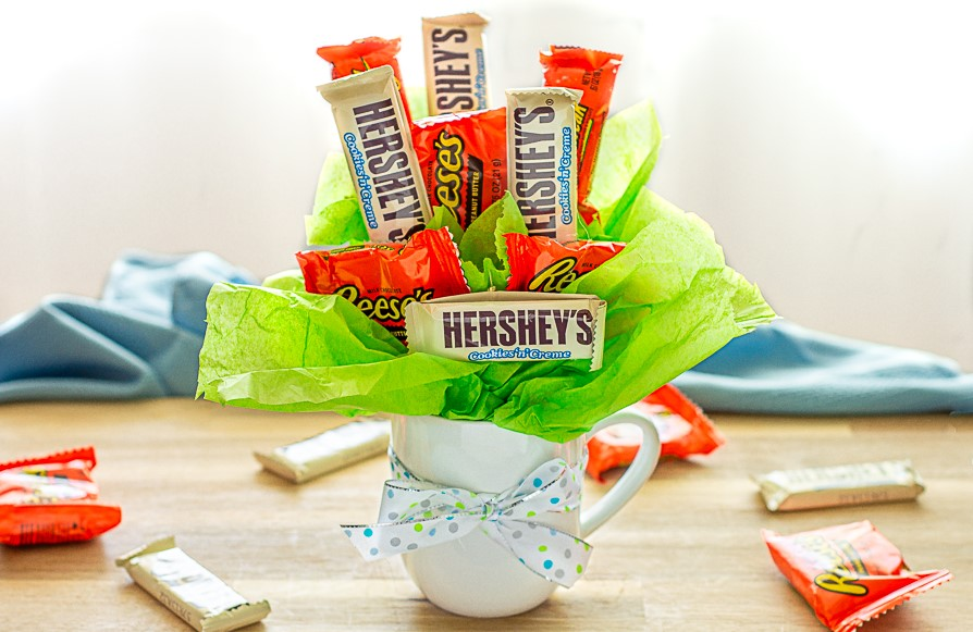 Simple Candy Bouquet in a Mug