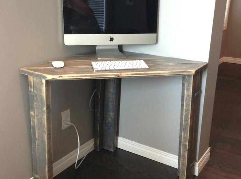 Small Rustic Corner Desk