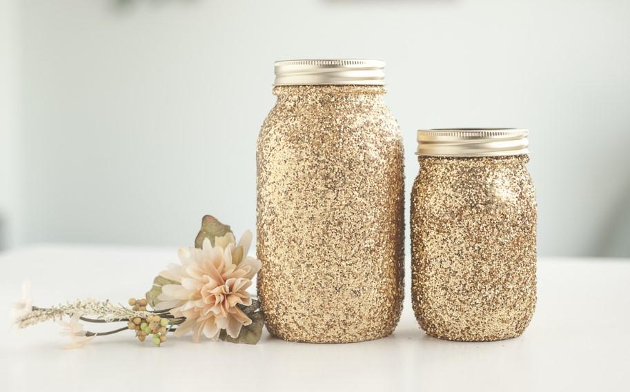 Sparkling Glitter Date Night Jars