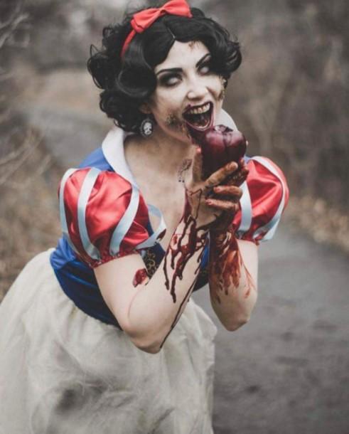 Spooky Snow White Zombie Costume