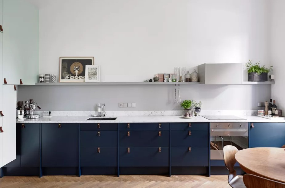 Truly Modern Blue Kitchen Cabinets