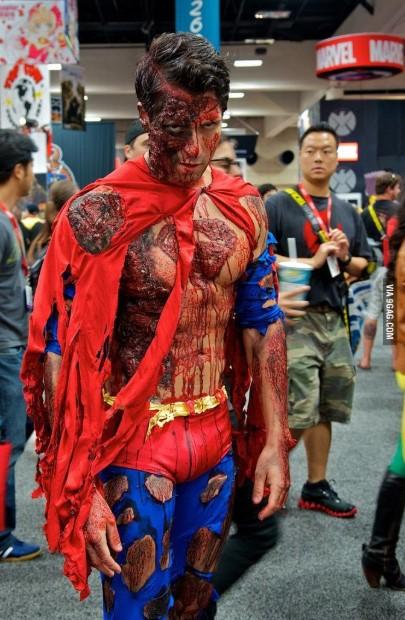 Undead Superman Zombie Costume