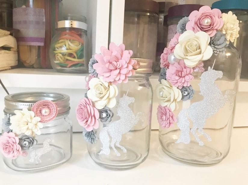 Unicorn and Flowers Jar