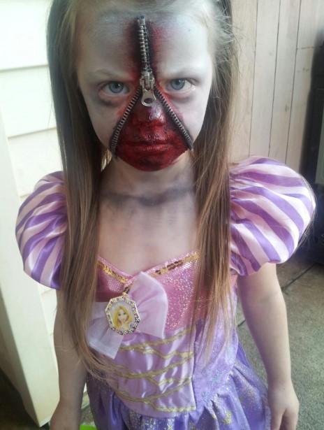 Zipper-Faced Kid Zombie Costume