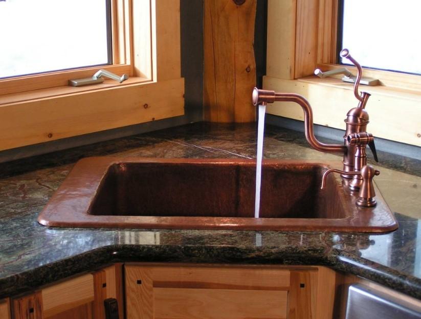 A Single Bowl Corner Kithen Sink