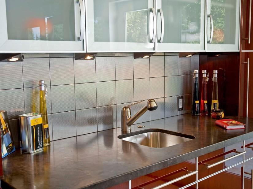 All-Square Stainless Steel Tiles for Backsplash