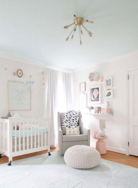 All-white nursery concept