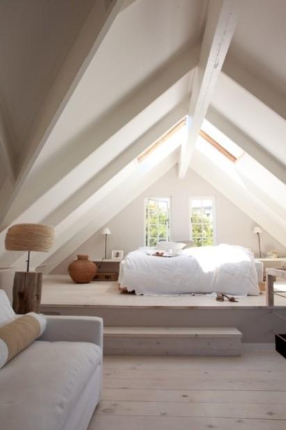 Attic bedroom ideas with sofa