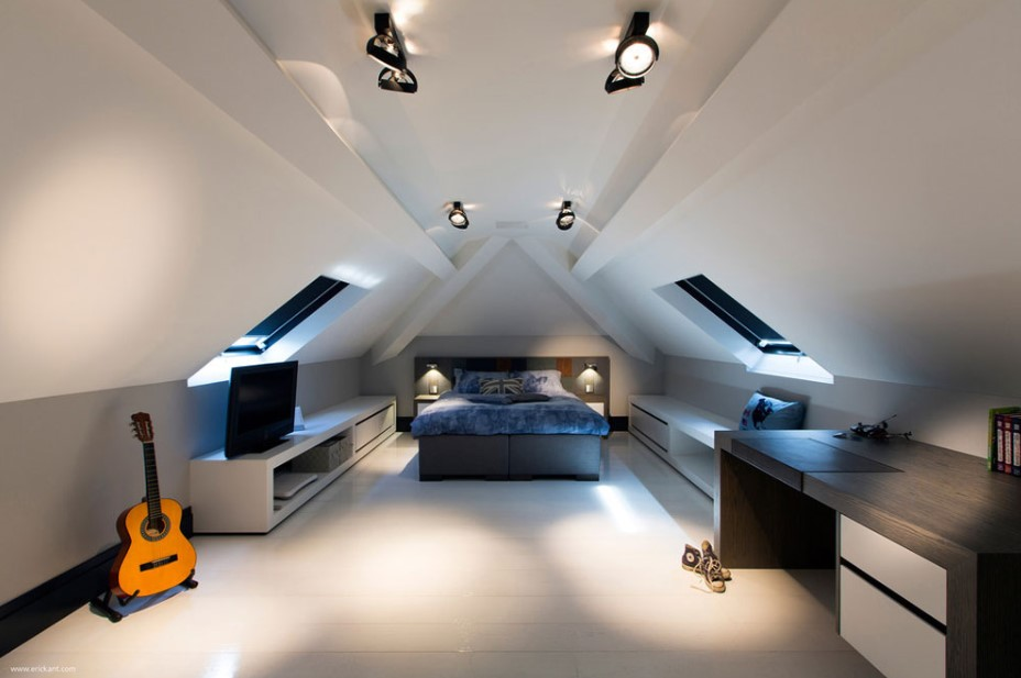 Attic bedroom with youth vibe
