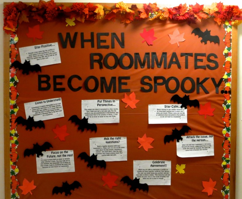 Autumn Themed Roommates Tips Board