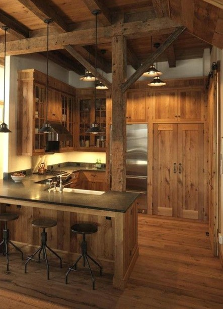 Barn Kitchen Cabinet