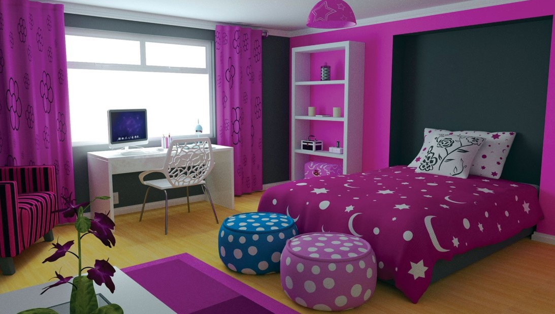 Bright Purple Modern Chamber Bedroom