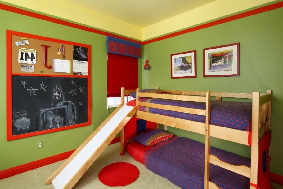 Bunk Bed and Slide Combo