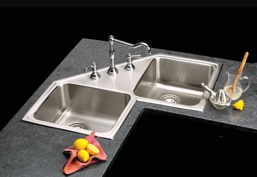 Butterfly-Styled Corner Kitchen Sink