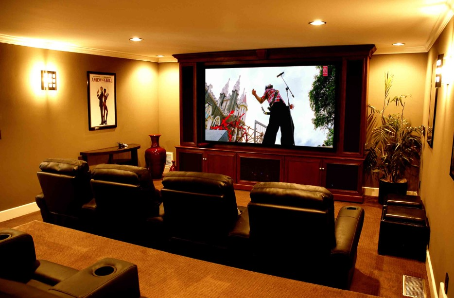 Chic and Simple  Home Theater